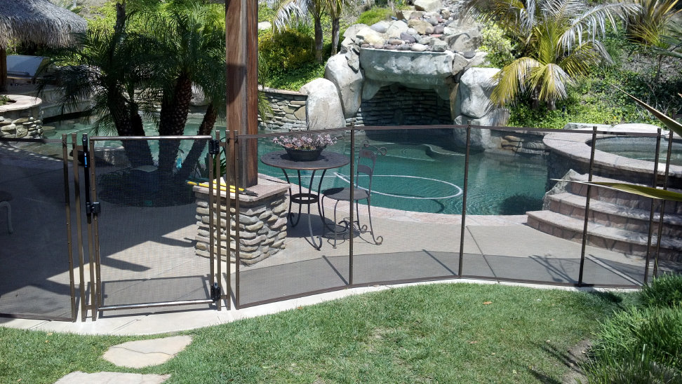 Viking Premium Pool Fence Black/Brown