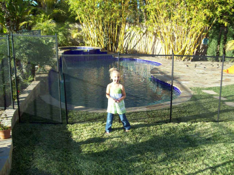 Pool Fence Installed In Lawn